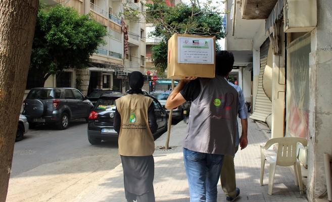 طرود غذائية بتمويل الهيئة الخيرية الإسلامية العالمية